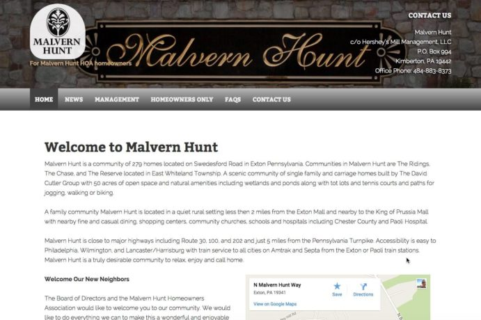 Update Malvern Hunt website