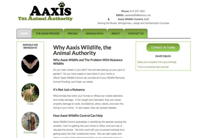 Aaxis Wildlife website