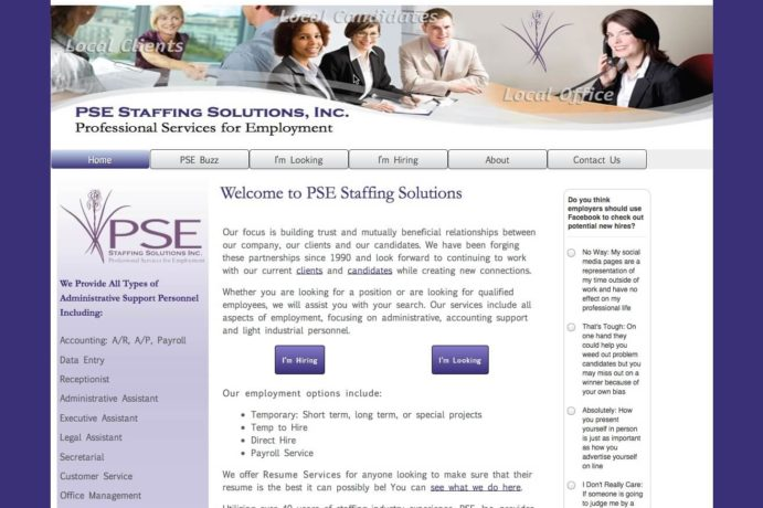 PSE Staffing Solutions screenshot